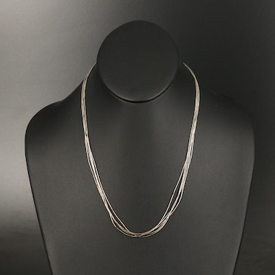 Southwestern Sterling Liquid Silver Necklace
