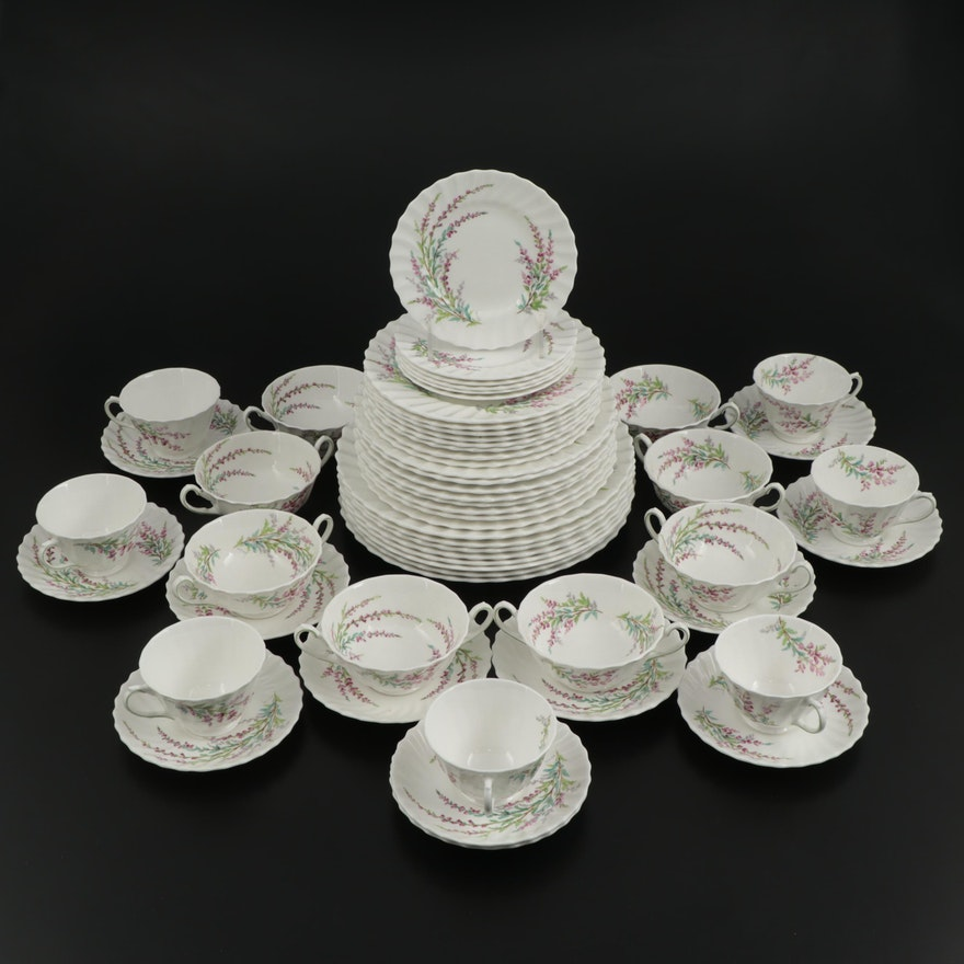 "Royal Doulton ""Bell Heather"" Bone China Dinnerware, Mid-20th Century"