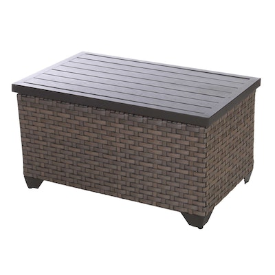 Resin Wicker and Metal Lift-Lid Patio Storage Chest