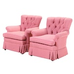 Pair of Buttoned-Down Easy Armchairs, Late 20th Century