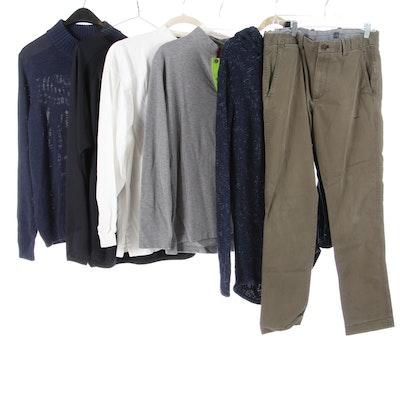 Men's Robert Bryan, Shanghai Tang, Gap, and Other Sweaters, Jerseys, and Pants