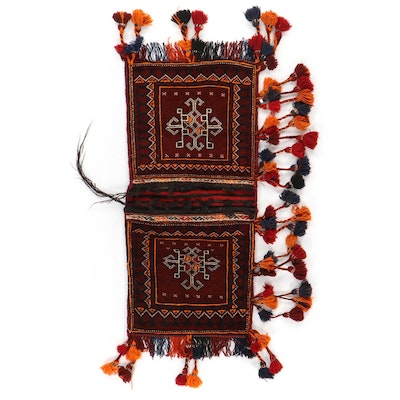 1'10 x 4'3 Hand-Knotted Persian Turkmen Saddle Bag