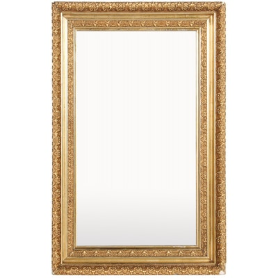 Rectangular Carved Giltwood Framed Wall Mirror