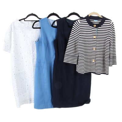J. McLaughlin Sleeveless Dresses and Sweater with COS Printed A-Line Dress