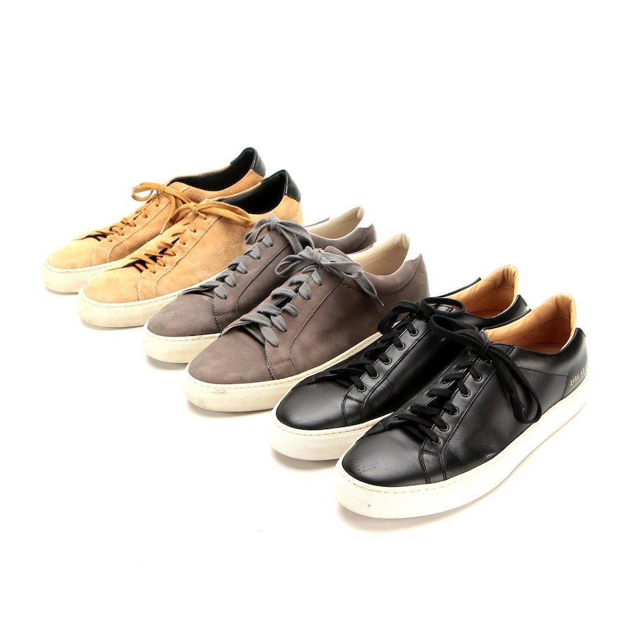 Men's Common Projects and Brunello Cucinelli Sneakers in in Suede and Leather