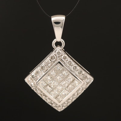 14K 1.24 CTW Diamond Pendant