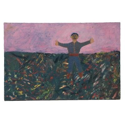 Jerald Mironov Figurative Oil Painting, Circa 2000
