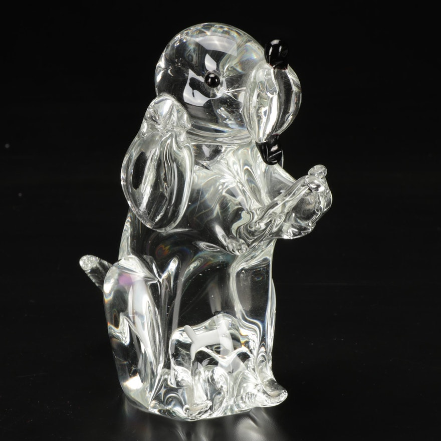 Formia Murano Art Glass Dog Figurine