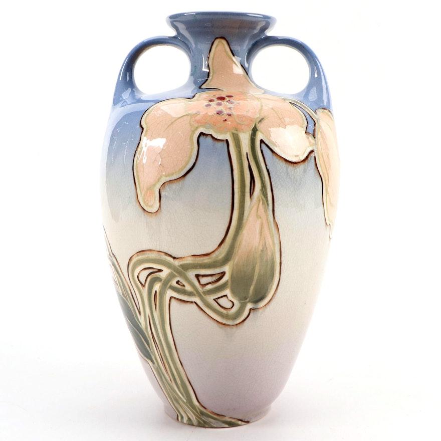 "Roseville Pottery Art Nouveau Rozane Ware ""Royal"" Vase, Early 20th Century"