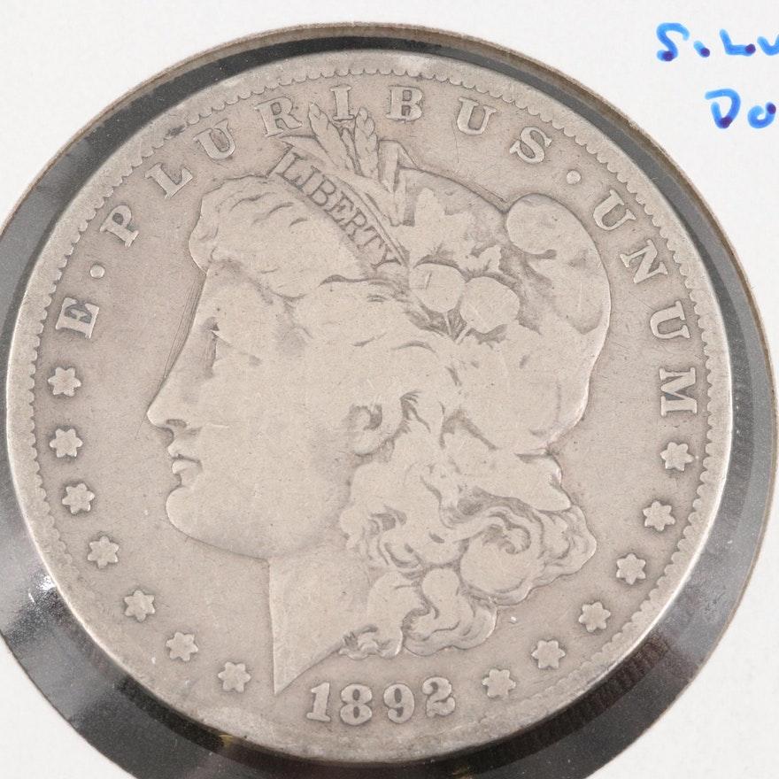 Better Date 1892-S Morgan Silver Dollar