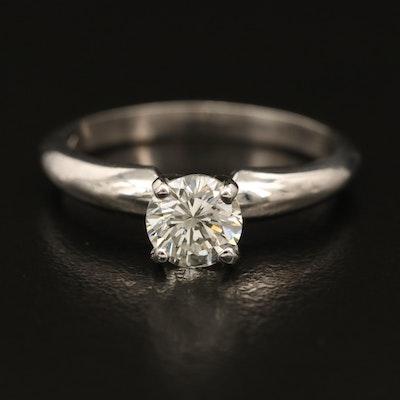 14K Diamond Solitaire Ring with GIA Diamond Dossier