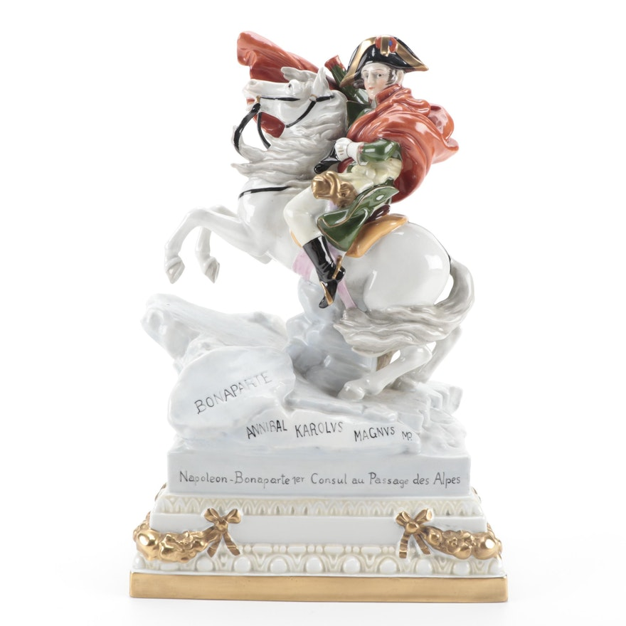 """German Scheibe-Alsbach """"Bonaparte"""" Porcelain Figurine"""