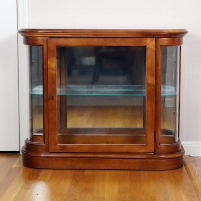 Pulaski Furniture Cherry Stained Illuminated Curio Cabinet