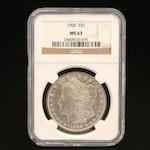 NGC Graded MS63 1900 Morgan Silver Dollar