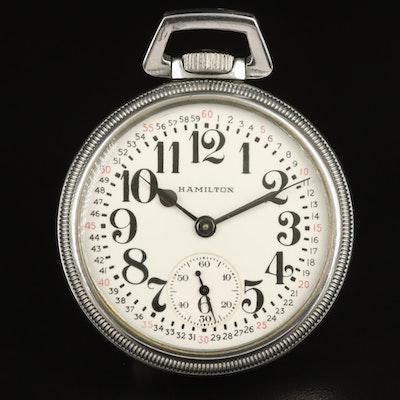 1940s Hamilton U.S. Ordnance Dept. Pocket Watch with Montgomery Dial