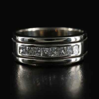 14K 0.75 CTW Diamond Channel Ring