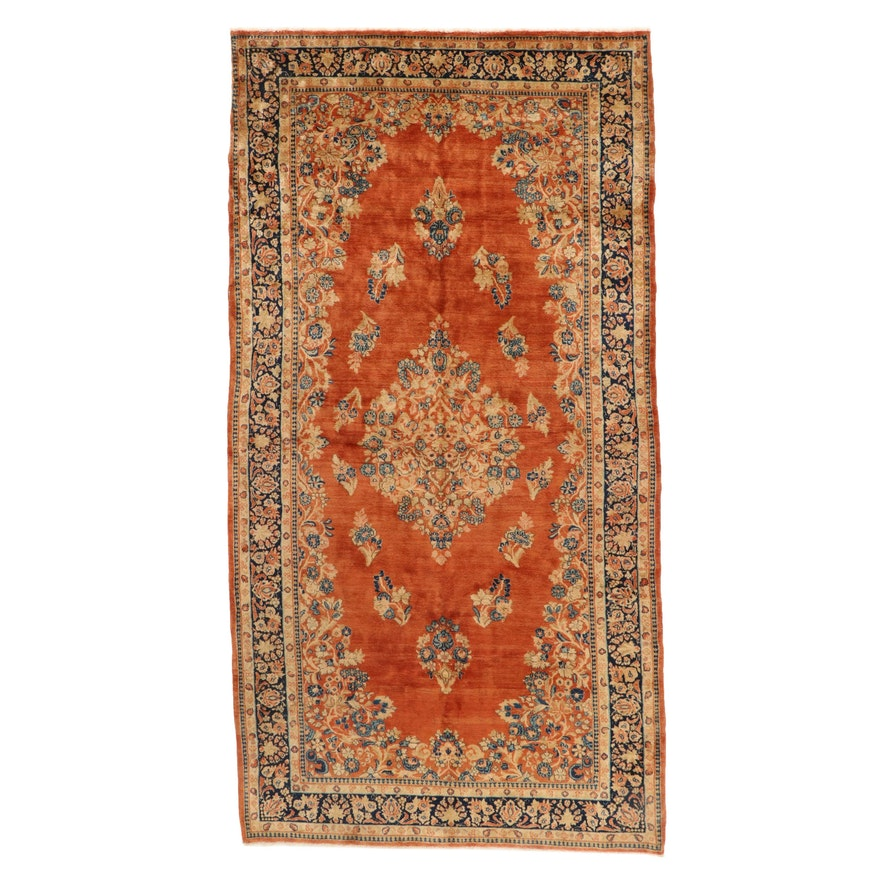 6'1 x 11'11 Hand-Knotted Persian Sarouk Area Rug