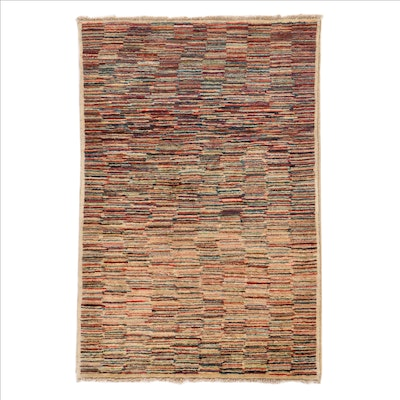 3'4 x 5' Hand-Knotted Pakistani Gabbeh Area Rug
