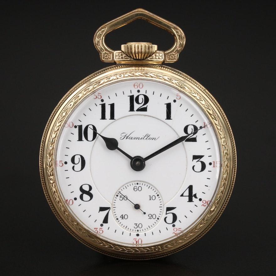 1916 Hamilton Railroad Grade Pocket Watch