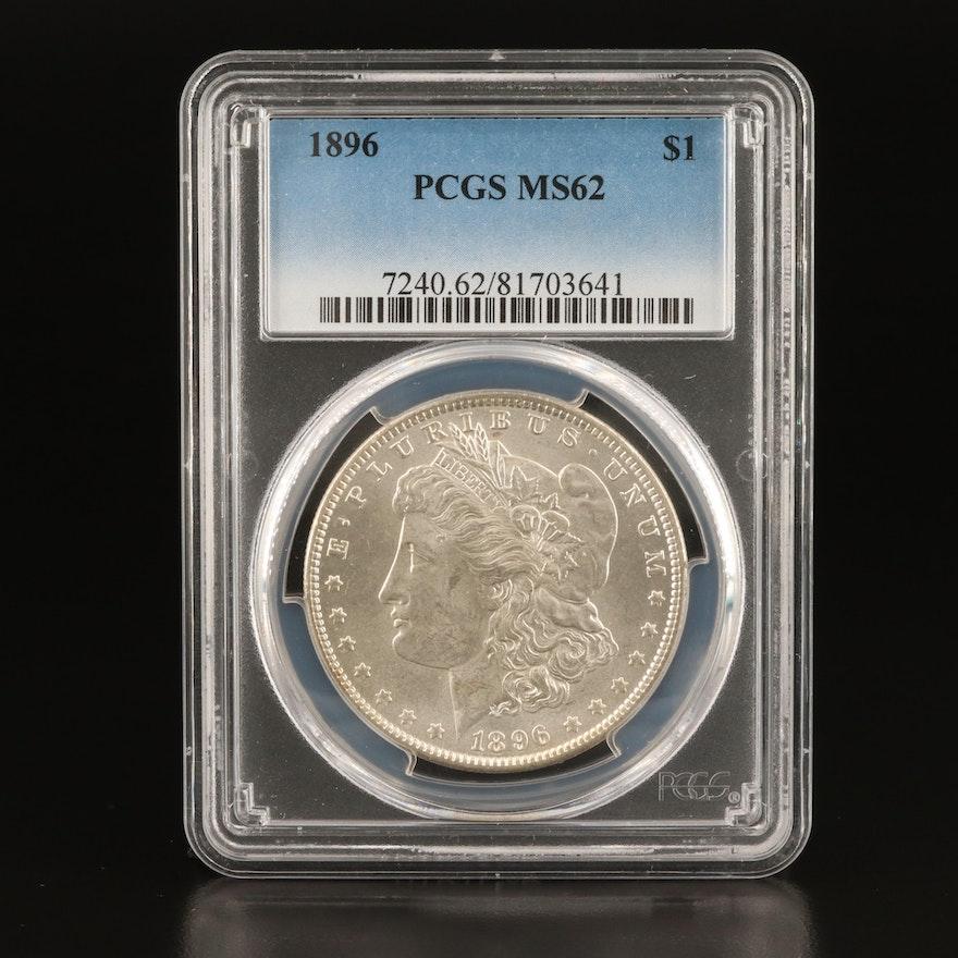 PCGS Graded MS62 1896 Morgan Silver Dollar
