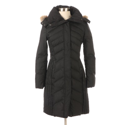 Marc New York By Andrew Marc Puffer Jacket with Coyote Fur Trim