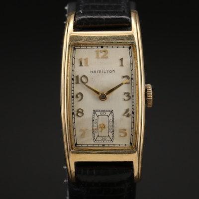 1948 Hamilton 14K Gold Filled Stem Wind Wristwatch