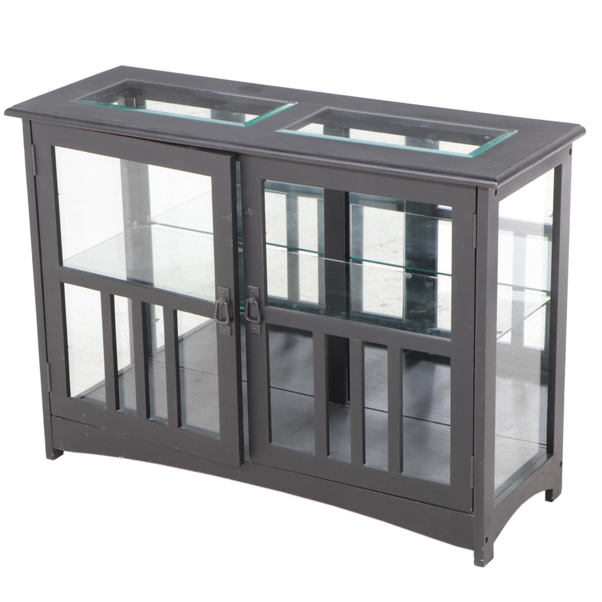 Arts and Crafts Style Ebonized Display Cabinet