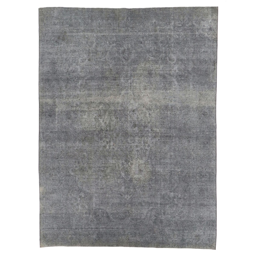 9'5 x 12'9 Hand-Knotted Persian Overdyed Room Sized Rug