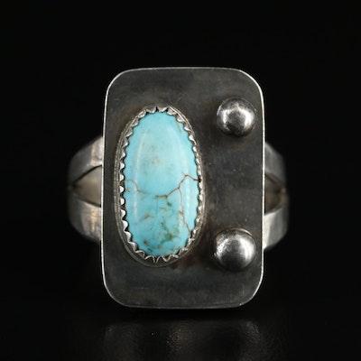 Sterling Howlite Bezel Square Ring