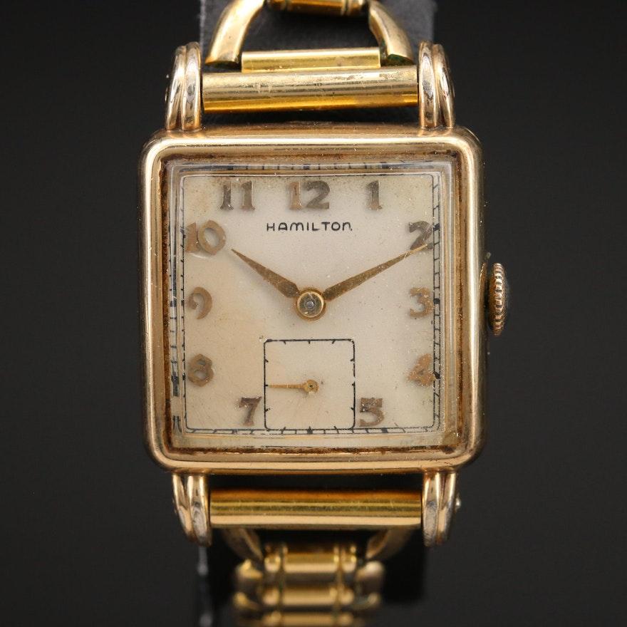 1949 Hamilton Dewitt 10K Gold Filled Wristwatch