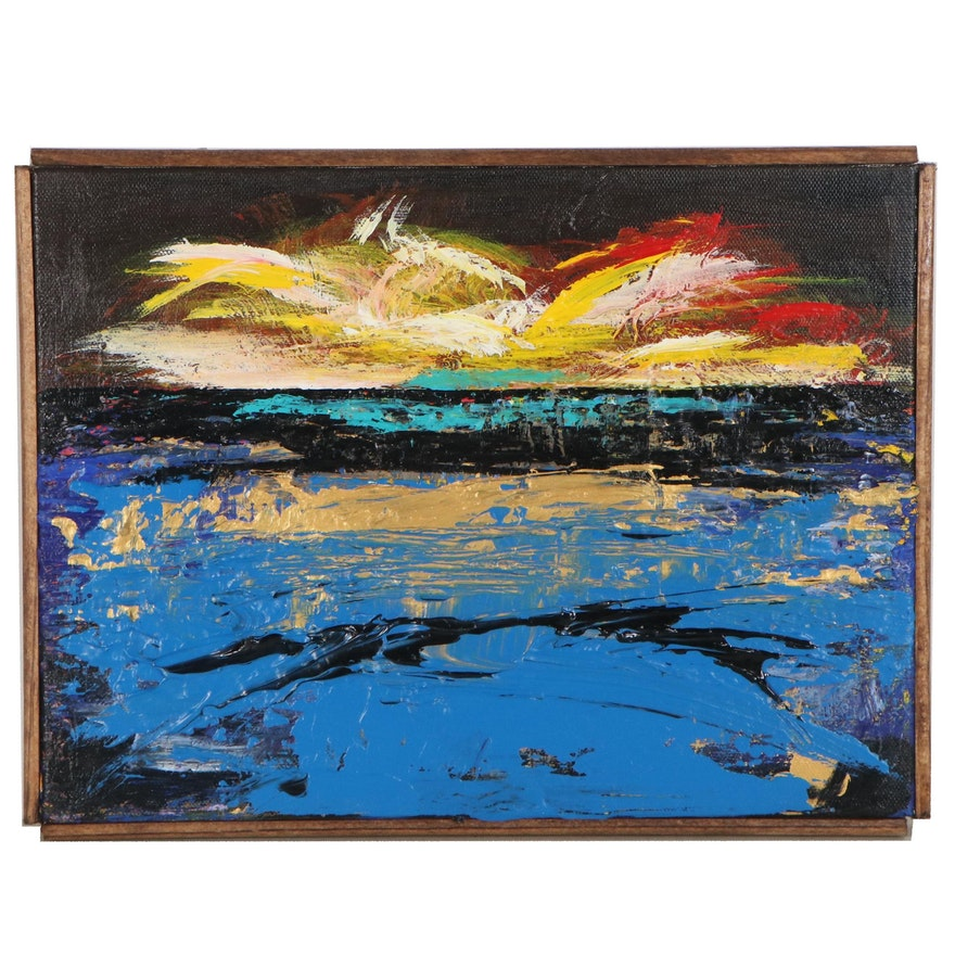 """Robert Lackney Abstract Acrylic Painting """"There Not Here"""""""