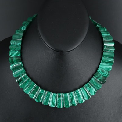 Graduated Malachite Necklace