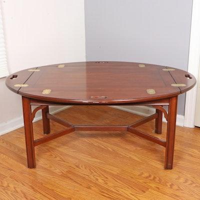Henkel-Harris Wild Black Cherry Butler's Tray-Top Coffee Table