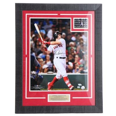 Boston Red Sox, Andrew Benintendi Framed Signed Photo Print, COA