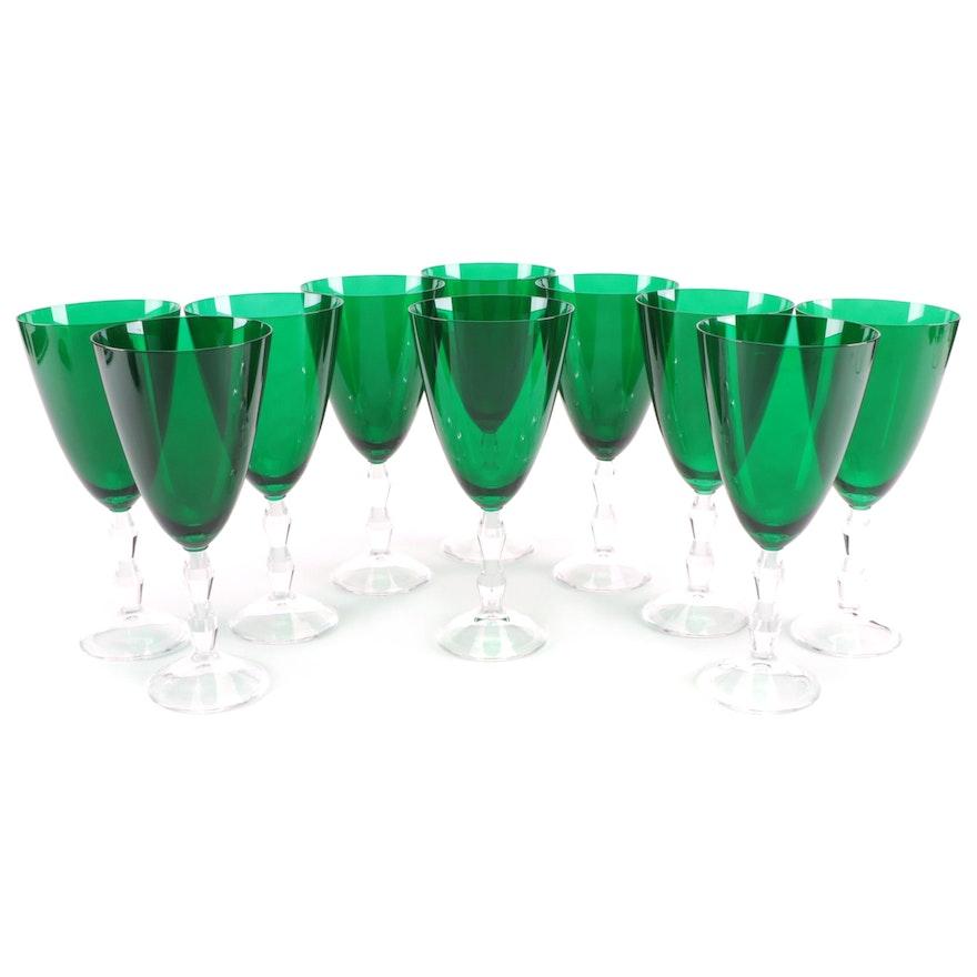 "Lenox ""Carat Emerald"" Iced Tea Glasses"