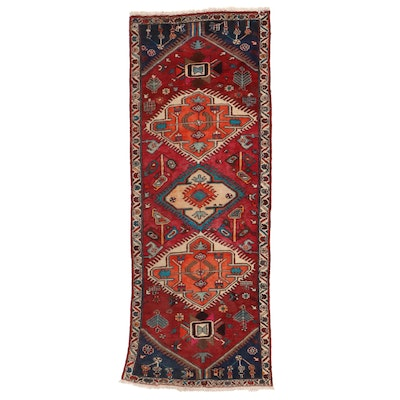 3'9 x 9'7 Hand-Knotted Northwest Persian Long Rug