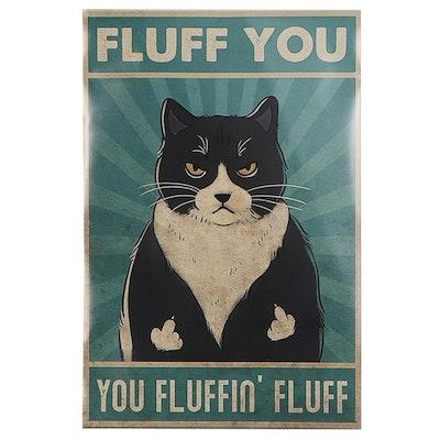 Black Cat Giclée Poster, Circa 2020