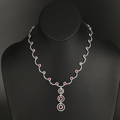 18K Ruby and 4.51 CTW Diamond Necklace