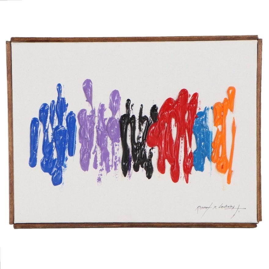 "Robert Lackney Abstract Acrylic Painting ""Dootle Dee"""