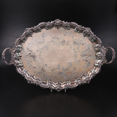 E. G. Webster & Son Silver Plate Serving Tray,  Early 20th Century