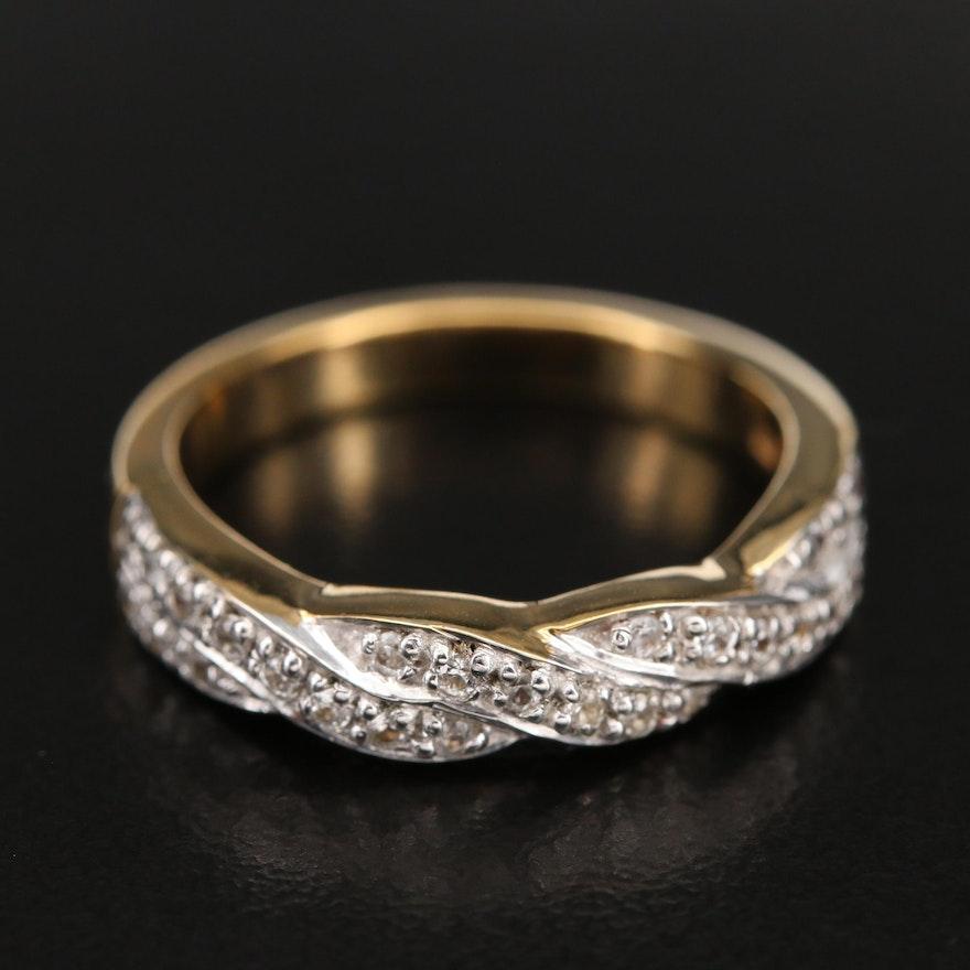 Sterling Zircon Crossover Ring