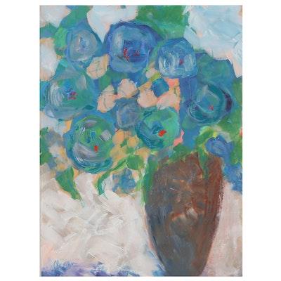 "Claire McElveen Mixed Media Painting ""Abundance"""