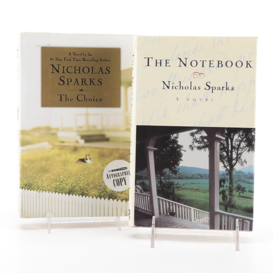 """Signed """"The Notebook"""" and First Edition """"The Choice"""" by Nicholas Sparks"""