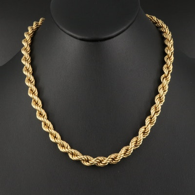 18K French Rope Chain Necklace