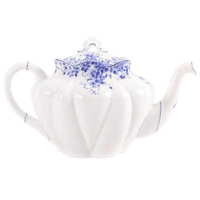 "Shelley ""Dainty Blue"" Bone China Teapot, 20th Century"