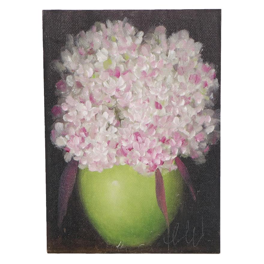 "Thu-Thuy Tran Oil Painting ""Summer Hydrangeas"""