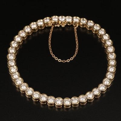 14K 6.35 CTW Semi Bezel Set Diamond Bracelet
