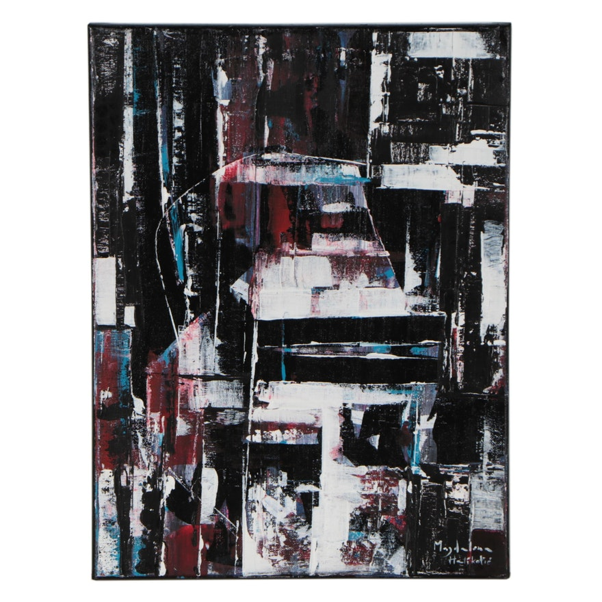 Magdalena Halikotic Abstract Acrylic Painting