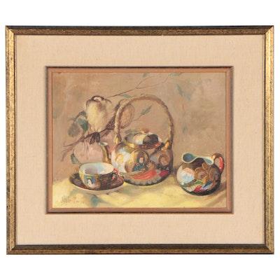 Zsuzsanna Suger Still Life Oil Painting, 21st Century