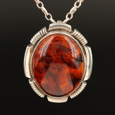 Sterling Amroid Converter Pendant Necklace
